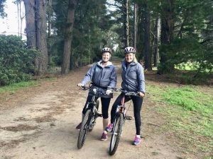 cycling on the red hill rail trail