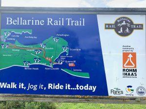 having a look at the bellarine rail trail map