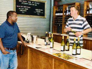 tasting wine a stonier winery