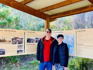 reading about the merricks red hill rail trail