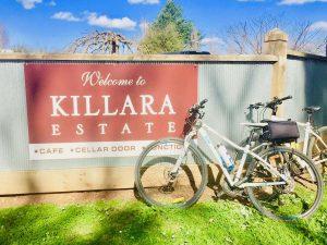 having lunch at killara estate in the yarra valley