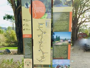looking at the map of the warburton rail traili
