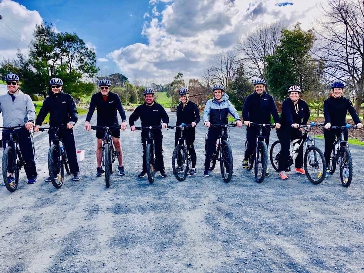 cycle tour on the warburton rail trail