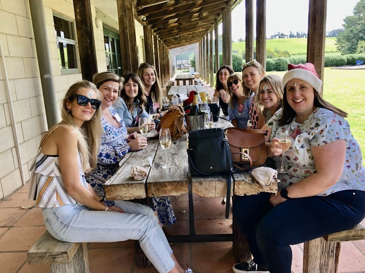 christmas party at stonier winery on the mornington peninsula