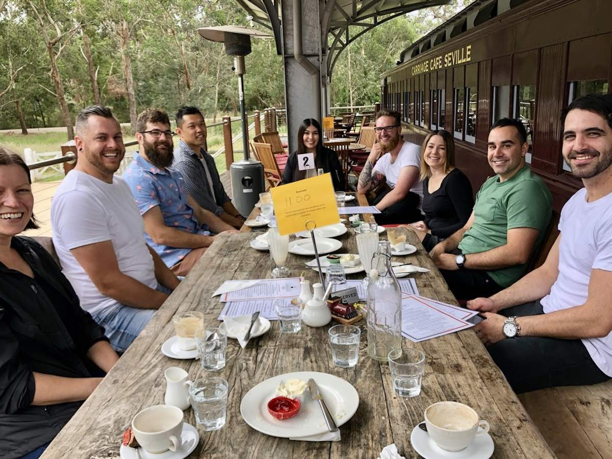 christmas party in the yarra valley at carriage cafe